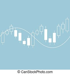 Candle stick graph chart of stock market vector illustration...