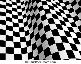 Checkered flag - Sports background - abstract checkered flag