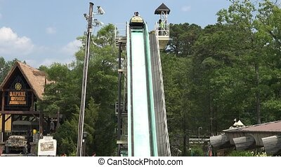 Amusement Park Flume Ride