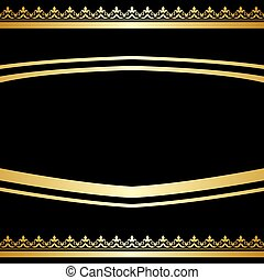 black ornamental background - gold