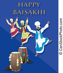 punjabi baisakhi - a vector illustration in eps 10 format of...
