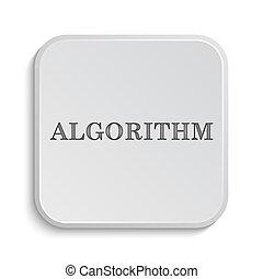 Algorithm icon Internet button on white background
