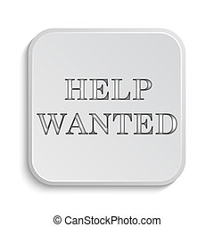 Help wanted icon Internet button on white background