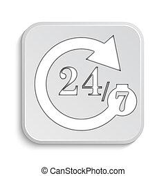 247 icon Internet button on white background