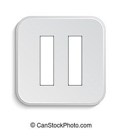 Pause icon Internet button on white background