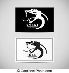 vector snake simple black logo design element danger snake...