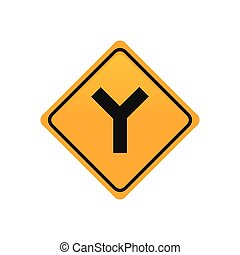 Transit signal - Isolated yellow transit signal with a black...