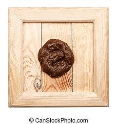 viejo, de madera, marco, con, falsificación, caucho,...