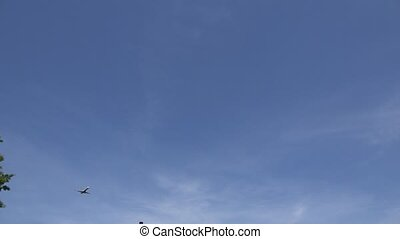 Passenger Jet Flying Overhead