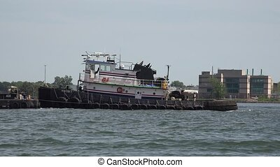 Tug Boat in Harbor