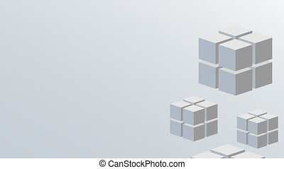 footage motion cube background 4K video Animation with alpha...