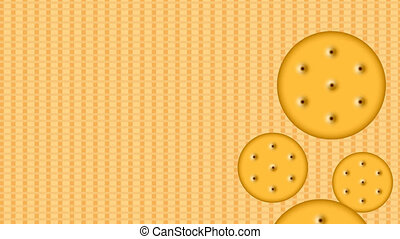footage motion cookies background 4K video Animation with...