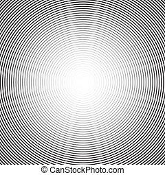 concéntrico, círculo, fondo., vector, fondo.,...