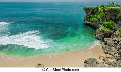 Ocean laguna beach with rock and sand - Ocean laguna secret...