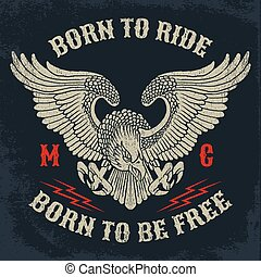 Motorcycle Club Emblem. - American Eagle Motorcycle Club...