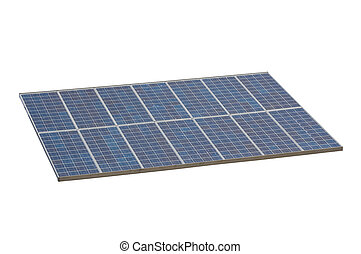 solar panel , isolted , white background - isolted object ,...