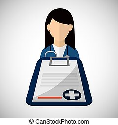 Medical care design. Health care icon. Flat illustration -...