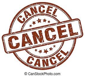 cancel brown grunge round vintage rubber stamp