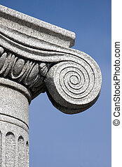 column detail - antic column detail , architectural...