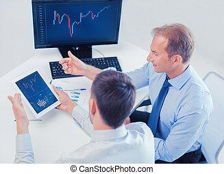 PC, diář,  Businessmen, tabulka