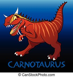 Carnotaurus cute dinosaur - Carnotaurus cute character...