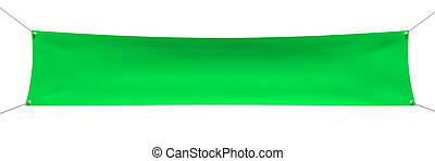 Green banner with ropes, place for your text