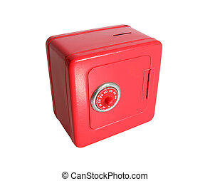 Little Red Bank - Little toy safe with combination dial lock