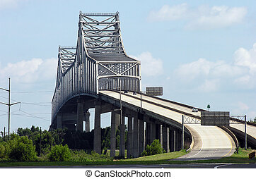 Gramercy Bridge in Louisiana - Towering Gramercy Bridge over...