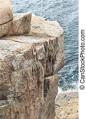 Section of Otter Cliff in Acadia National Park - Otter Cliff...