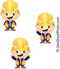 cartoon construction man