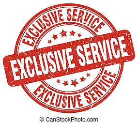 exclusive service red grunge round vintage rubber stamp