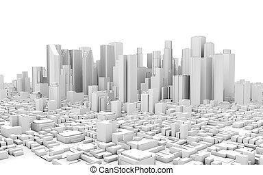 3d city view