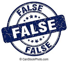 false blue grunge round vintage rubber stamp