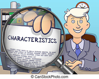 Characteristics through Lens. Doodle Design. - Business Man...