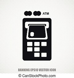 Banking vector ATM Machine icon. Modern flat design.