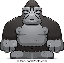 Big Ape - A cartoon big ape with an angry expression