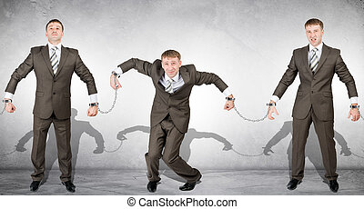 Handcuffs, white collar crime, arrest - Handcuffs, white...