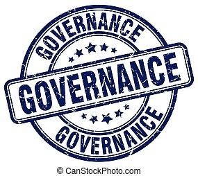governance blue grunge round vintage rubber stamp