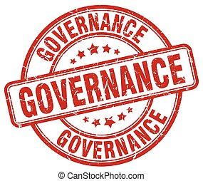 governance red grunge round vintage rubber stamp