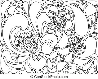 Floral vector background. - Vector abstract composition of...