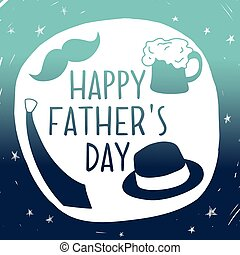 Happy fathers day background. Vector composition with a...