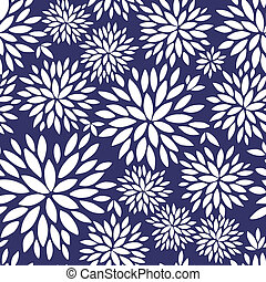 Vector floral pattern. Two colors.