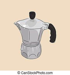 Coffee maker geyser, vector illustration