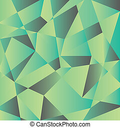 Mint polygons - Vector abstract composition of polygons....