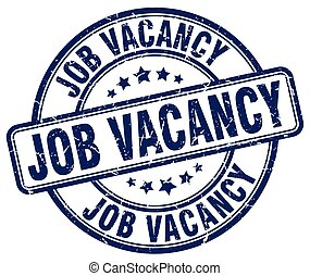 job vacancy blue grunge round vintage rubber stamp