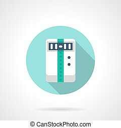 Climatic appliance round flat color vector icon - Electrical...