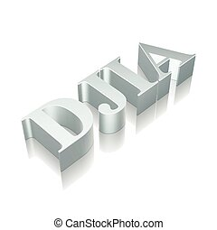 3d metallic character DJIA with reflection, vector...