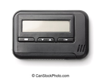 Pager - Old pager isolated on white