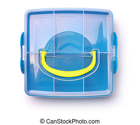 Plastic storage box - Top view of plastic storage box...