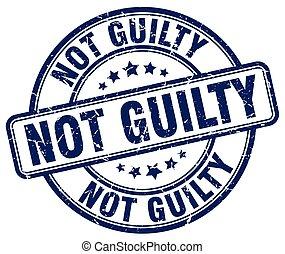 not guilty blue grunge round vintage rubber stamp